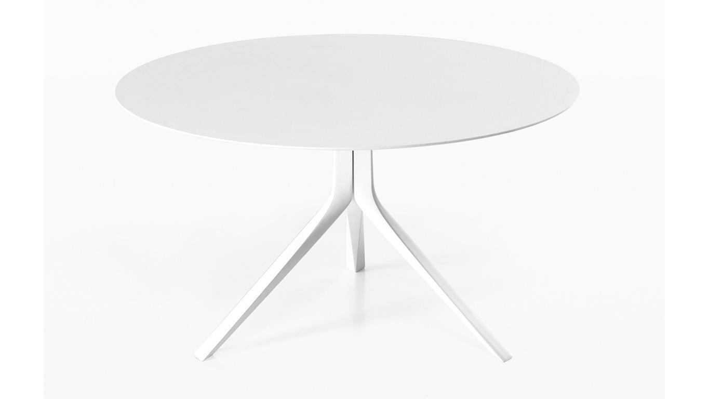 Witte Ronde Uitschuifbare Eettafel.Ronde Tafel Wit Of Zwart Volkernblad O120cm O140cm Of O160cm