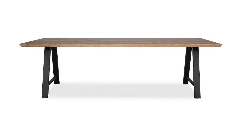 Tafel van hout trendy eettafel hout uitgevoerd in massief