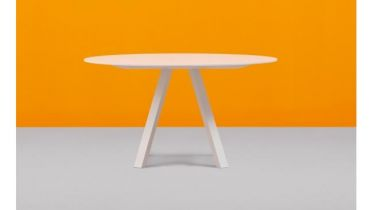 ronde tafel diameter 160cm of 140cm - wit volkern - art 76.160