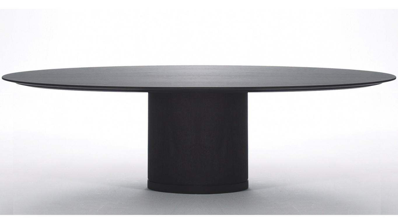 Ovale tafel in hout art spa