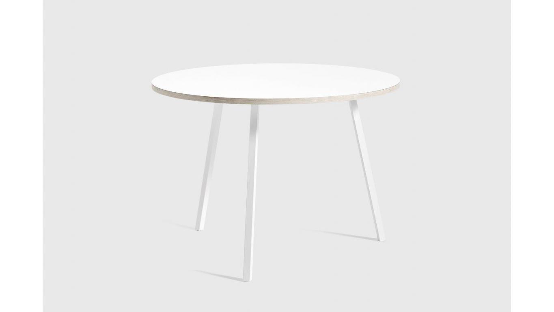 Ronde tafel wit of zwart en Ø105cm of Ø120cm art 60.005r