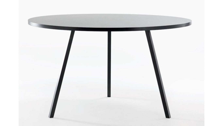 Ronde Salontafel Met Zwarte Poten.Ronde Tafel Wit Of Zwart En O105cm Of O120cm Art 60 005r