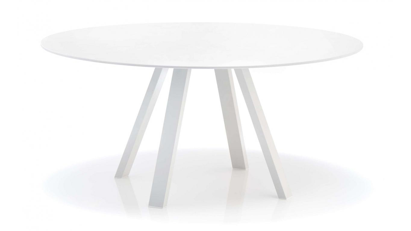 ronde tafel diameter 160cm of 140cm wit volkern art