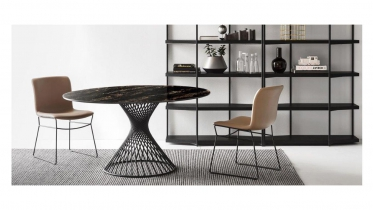 ronde tafel in keramiek of glas | art Girevole2
