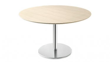 Ronde tafel wit volkernblad pure white art r