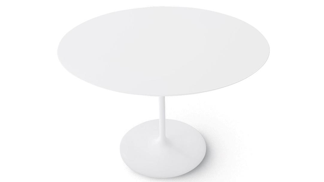 Ronde Witte Tafel.Ronde Tafel Wit Centrale Kolom Art 15 06xx