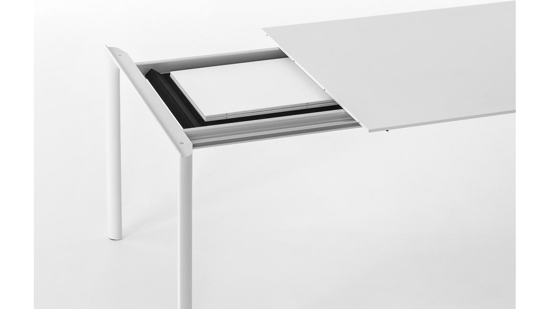 Eetkamertafel Uitschuifbaar Wit : Eetkamertafel uitschuifbaar bruin keukentafel eetkamertafel