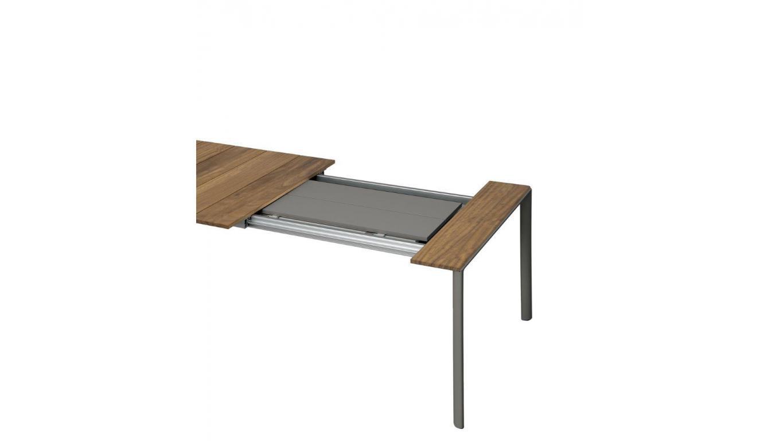 Tuintafel Hardhout Uitschuifbaar.Uitschuifbare Tuintafel In Hout En Aluminium Exn Th
