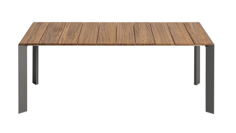 Tuintafel Hardhout Uitschuifbaar.Uitschuifbare Tuintafel In Hout En Aluminium Art Ex Th